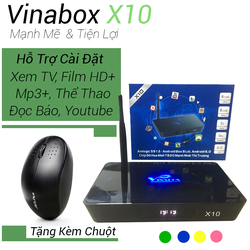 Android TV Box Vinabox X10 Chính Hãng