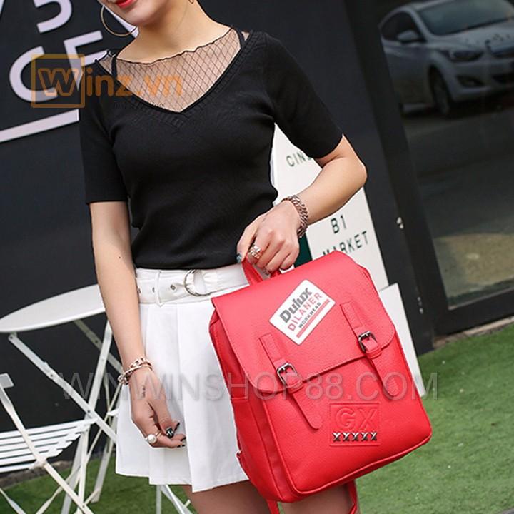 Balo Da Thời Trang Bl208 Màu Đỏ cung cấp bởi Winwinshop88 9