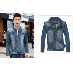 Áo khoác jeans Nam dành cho người mập phong cách Hàn - AJ011335160