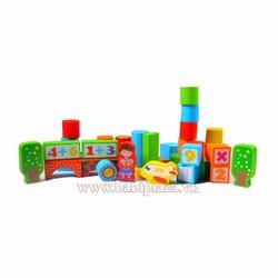 Hộp đồ chơi xếp hình bằng gỗ thông minh giá cực hấp dẫn
