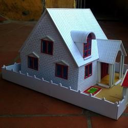 Mô hình kiến trúc nhà ở phong cách đồng quê