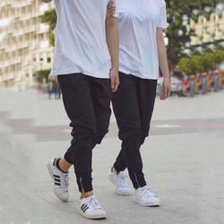 Quần jogger zip chân cá tính thích hợp cho cả nam và nữ