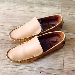 Giày mọi da cao cấp nâu bò