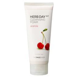 Sữa rửa mặt tạo bọt TFS HERB DAY 365 CLEANSING FOAM  cherry