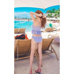 bikini ren áo peplum và chip