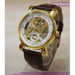 Đồng hồ cơ Ome dây da cổ máy thời gian sang trọng DHDT139
