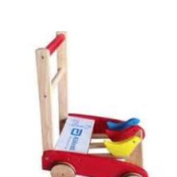Xe tập đi gỗ có ron cao su Abbott cho bé
