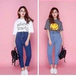 quần baggy jean nữ