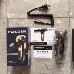 Máy cạo râu FLYCO FS360 + tỉa lông mũi FS7805