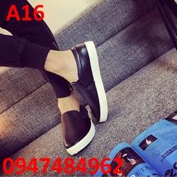 Giày lười nam chất liệu da form ý cao cấp A16