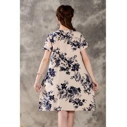 Đầm suông hoạ tiết hoa thời trang