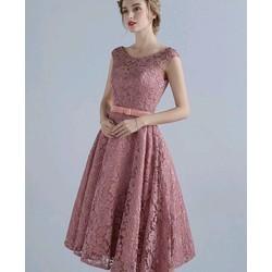 Đầm ren nổi dự tiệc cao cấp