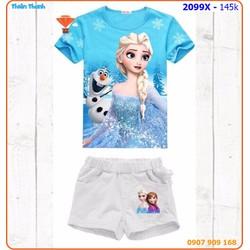 SIZE ĐẠI_Bộ short Elsa cho ngày hè thêm sành điệu
