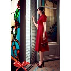 Đầm Vintage Thiết Kế Duyên Dáng Như HH Thu Thảo