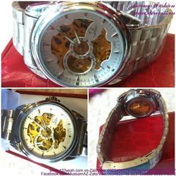 Đồng hồ cơ inox Ome vòng quay thời gian đẳng cấp DHDT131