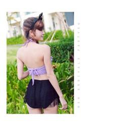 bikini áo và quần lưng cao tùng lưới