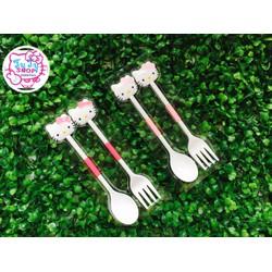 Bộ muỗng nĩa nhựa Kitty