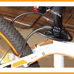 Khóa dây xe đạp 4 số, bền, đẹp .Hỗ trợ thêm tiền Ship