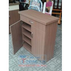 Tủ để giày dép - tủ để giày gỗ MFC 80 cm vân nâu