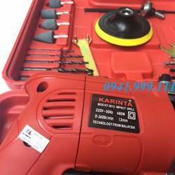 Máy khoan đa năng Karinta 680W kèm bộ dụng cụ cao cấp