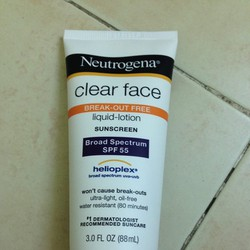 Kem chống nắng Neutrogena Clear Face Liquid Lotion SPF 55