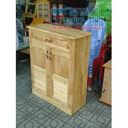 Tủ để giày dép gỗ cây cao cấp 80 cm màu tự nhiên