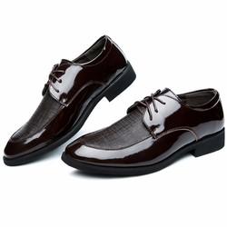 Giày  tăng chiều cao nam da bóng-GC68