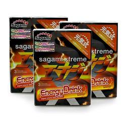 Combos 3 hộp Sagami Energy drink mùi nước tăng lực