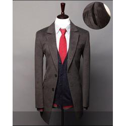 áo khoác măng tô nam hàn quốc Mã: NK0697 - XÁM ĐẬM
