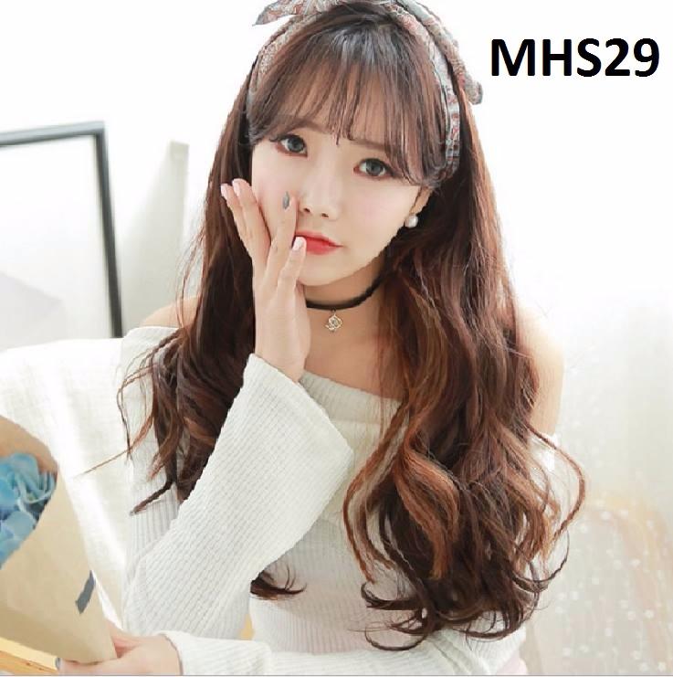 Bộ Tóc Xoăn Nâu Đỏ MHS29 3
