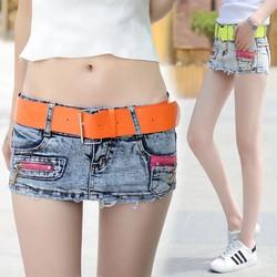 quần jean shorts giả vấy lưng thấp kiểu dáng hàn quốc