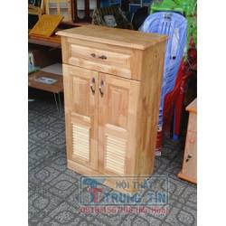 Tủ để giày dép gỗ cao su 60 cm màu tự nhiên