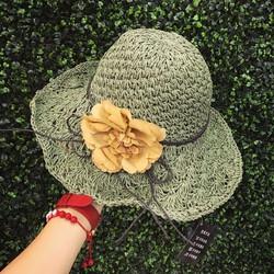 Mũ cói hoa xinh