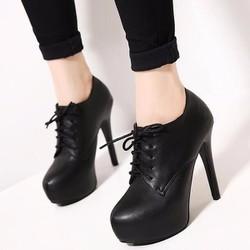 Giày boot nữ cổ ngắn sành điệu cột dây GBN94