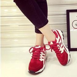Giày thể thao nữ thời trang sành điệu màu đỏ GTT0502