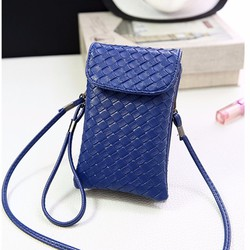 Túi đeo chéo mini dài vân nổi da PU PB11016537