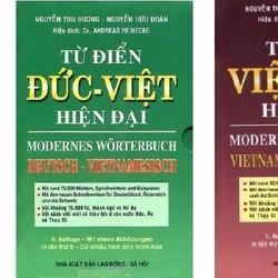 Combo 2 cuốn từ điển Đức Việt - Việt Đức hiện đại