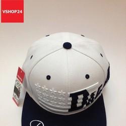 Mũ snapback VNXK DALLAS trắng vành xanh navy 323