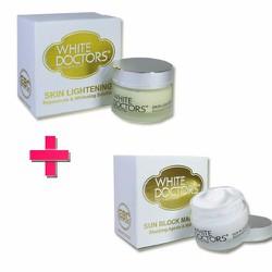 Bộ dưỡng trắng da mặt  White Doctors Skin Lightening  Sun Block Makeup