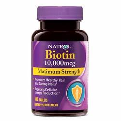 Viên uống chống rụng tóc Natrol Biotin 10000mcg 100 viên