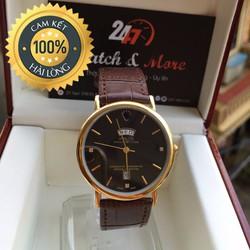 Đồng hồ nam dây da 2 lịch RL thiết kế thời trang hàng chất lượng