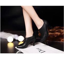 giày boot nữ cao cấp cố ngắn