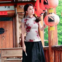 Hàng nhập cao cấp : Áo kiểu họa tiết sang trọng N259