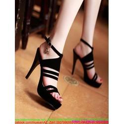 View  Giày cao gót sandal hở gót sành điệu sang trọng GCN253