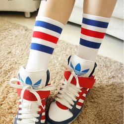 Combo 5 đôi vớ Hàn 3 sọc - Size bắp chân - Full 5 màu