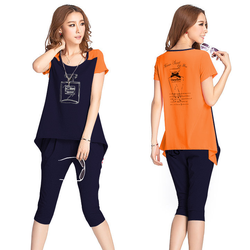 Bộ quần lửng và áo đuôi tôm quyến rũ N716