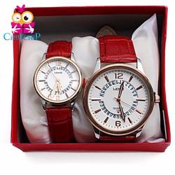 Đồng hồ cặp dây da đỏ
