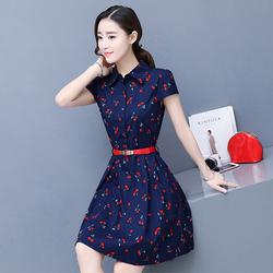 Đầm xòe nữ họa tiết cherry NX476