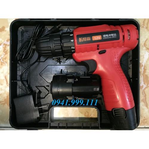 Máy khoan pin cầm tay K-stomer 12v