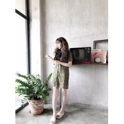 Đầm suông ren phối voan _MỎ CHU SHOP